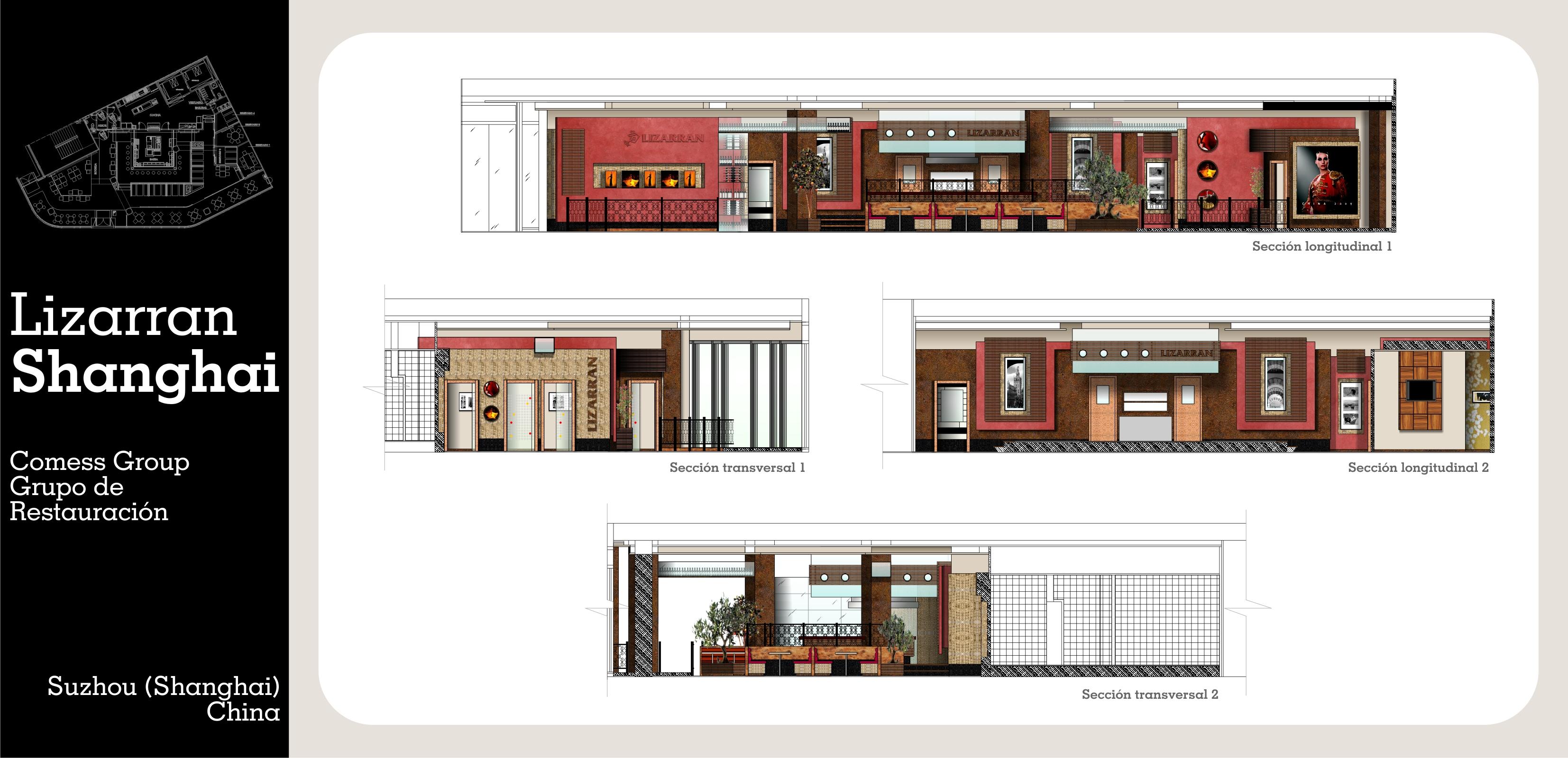 Diseño e Interiorismo de Restaurante Lizarran en Shanghai