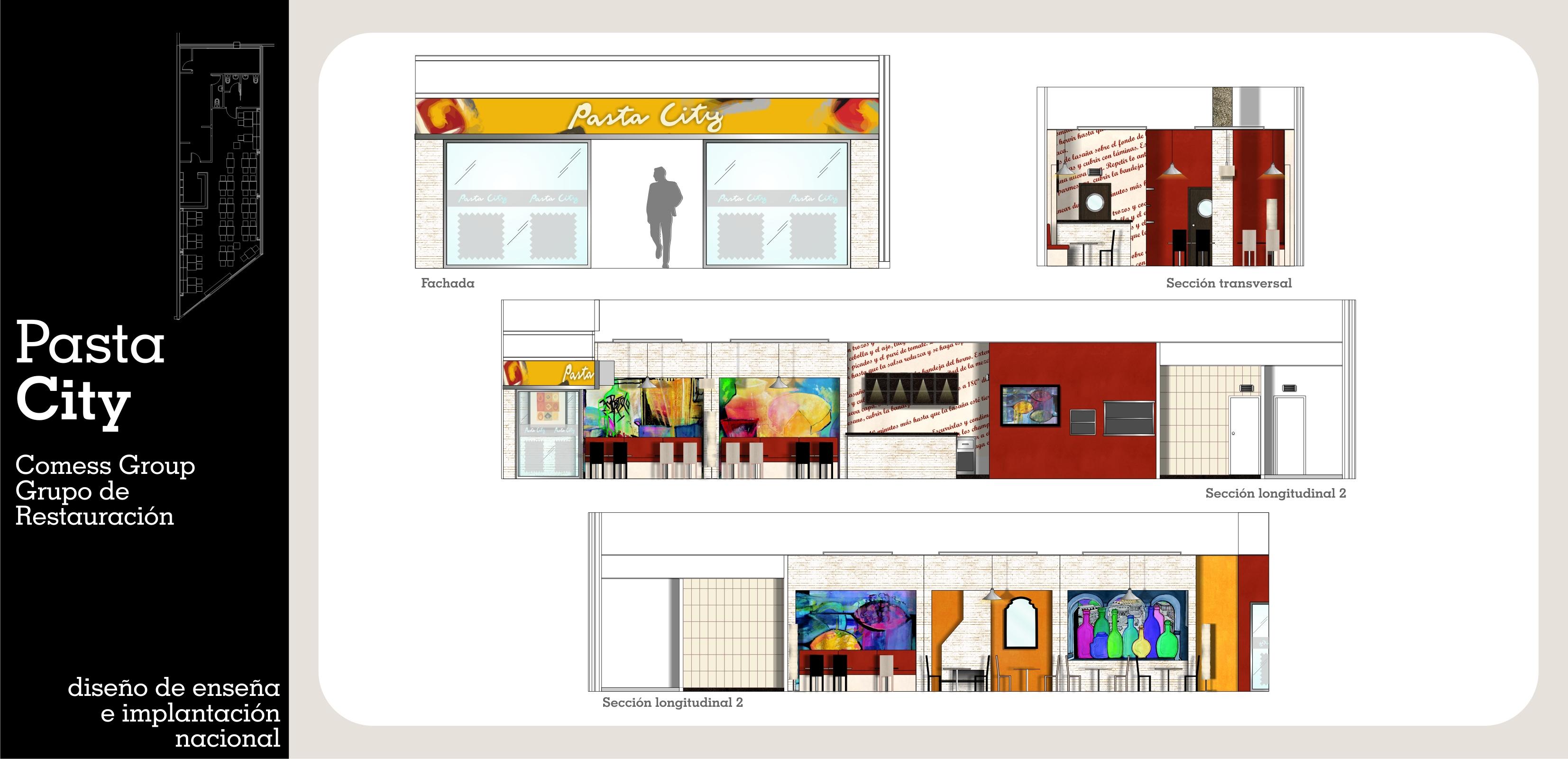 Diseño e Interiorismo de Franquicia de Restauración Italiana Pasta City