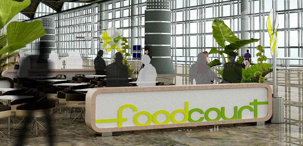Diseño para Food Court en Aeropuerto