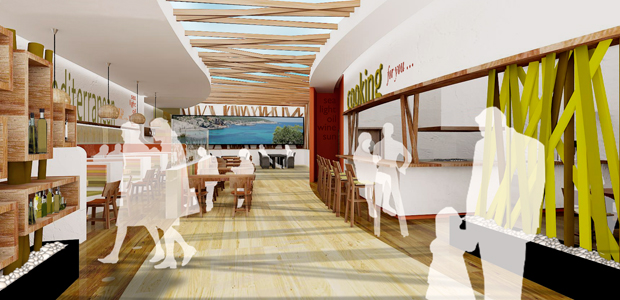Diseño e interiorismo Restaurente Mediterráneo 01