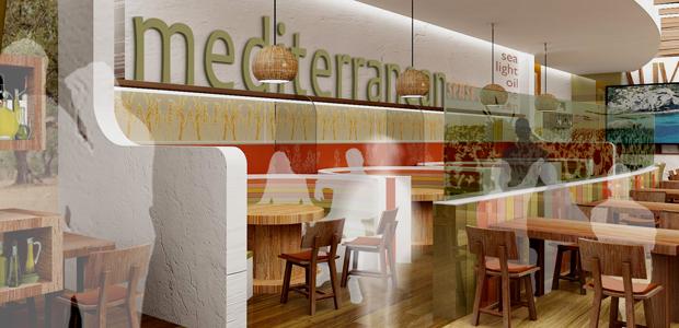 Diseño e interiorismo Restaurente Mediterráneo 02