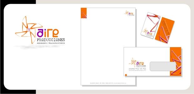 Logotipo e Identidad Corporativa Aire Producciones