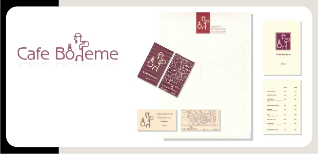 Logotipo e Identidad Corporativa Café Boheme