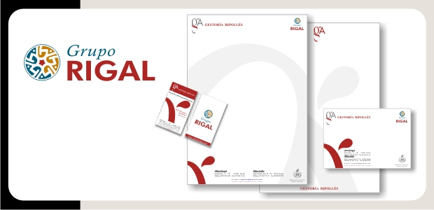 Logotipo e Identidad Corporativa Grupo Rigal