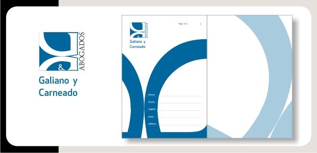 Logotipo e Identidad Galiano y Carneado Abogados