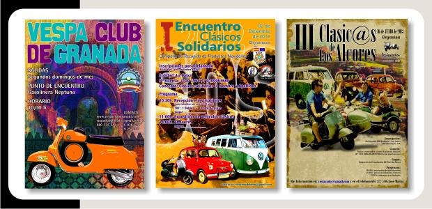 Encuentros Vespa Club Granada, Clásicos Solidarios y Sooter Club Vestacados