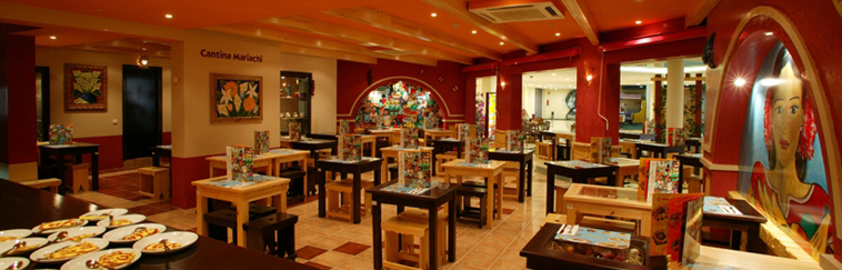 Diseño e Interiorismo de restaurante Mexicano