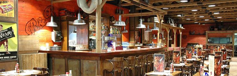 Diseño e Interiorismo de restaurante Americano