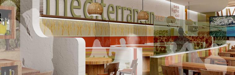 Proyecto de Diseño e Interiorismo de restaurante Mediterráneo