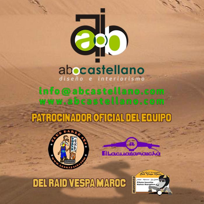 abcastellano patrocinador en I Vespa Raid Maroc